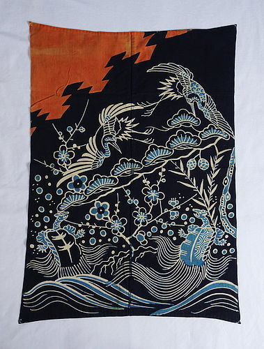 Japanese Antique Textile Cotton Yu-age for Newborn Baby