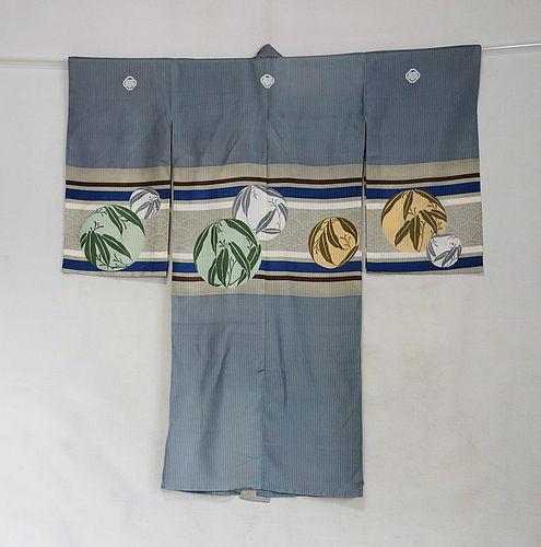 Japanese Vintage Textile Boy's Silk Gauze Ceremonial Kimono