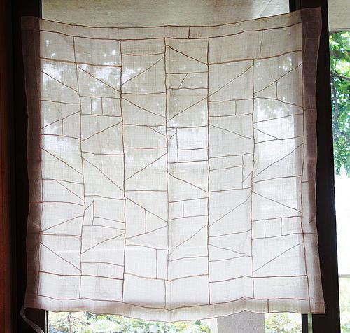 Korean Antique Textile Pojagi Made of Asa Fragments