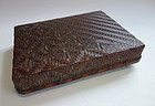Japanese Vintage Bamboo Basket Box for Papers and Letters