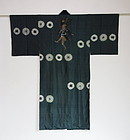 Japanese Vintage Man's Juban Under Kimono with Shibori & Yakko-san
