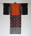 Japanese Antique Textile Yose-gire Juban Under Kimono