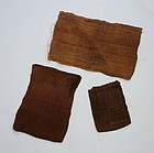 Japanese Antique Textile Bast Fiber Shina-fu Bags and Cloth