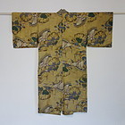 Japanese Vintage Textie Silk Juban with Sailboat Design