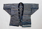 Japanese Vintage Textile Sakiori Hanten Noragi