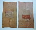Japanese Antique Textile Benibana-zome Cotton Cloth