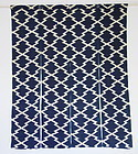 Japanese Antique Textile Asa Noren with Katazome Matsukawa-bishi