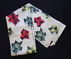 Japanese Vintage Textile Meisen Cloth for One Kimono