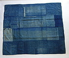 Japanese Vintage Textile Boro Small Rug with Sashiko