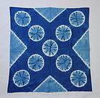 Japanese Vintage Textile Cotton Indigo Shibori Furoshiki
