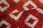 Japanese Vintage Textile Shibori Akane-zome Cloth Pongee Silk