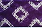Japanese Vintage Textile Shibori Shikon-zome Cloth Pongee Silk