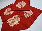 Japanese Vintage Textile Cotton Akane-zome Shibori Cloth