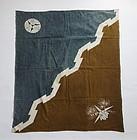 Japanese Antique Textile Cotton Some-wake Furoshiki