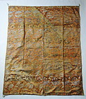 Japanese Antique Textile Silk Brocade Curtain for Buddhist Altar