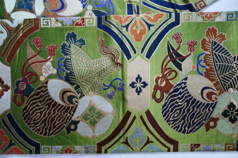 Japanese Vintage Textile Maru-obi Sash for Formal Kimono