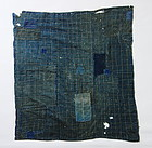 Japanese Vintage Textile Boro Furoshiki with Sashiko