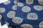 Japanese Antique Textile Asa Indigo  Cloth with Katazome
