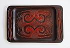 Japanese Vintage Ainu Wood Tray Mingei Folk Art Hokkaido