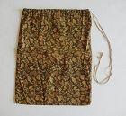 Japanese Antique Textile Cotton Bag with Treasure Motif