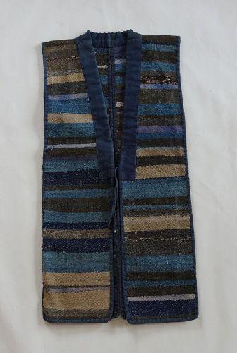 Japanese Vintage Textile Sakiori Sodenashi