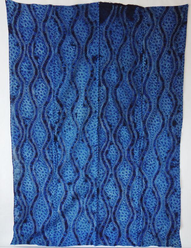 Japanese Vintage Textile Cotton Shibori Futonji
