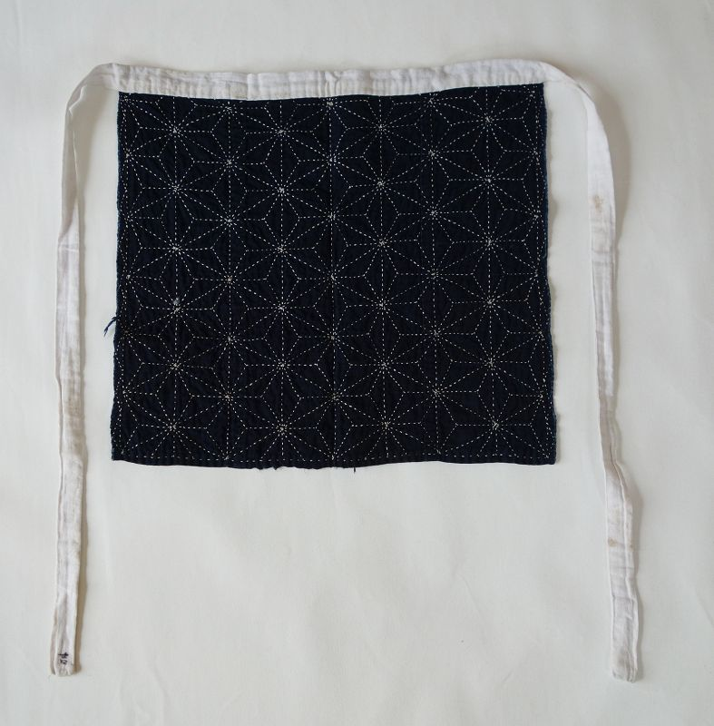 Japanese Vintage Textile Sashiko Maekake Apron