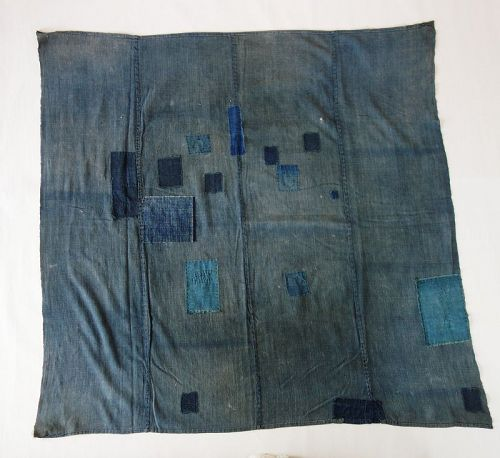 Japanese Antique Textile Boro Furoshiki with Mending Patches