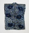 Japanese Antique Textile Han-juban with Bold Shibori 19 C