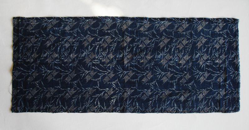 Japanese Antique Textile Cotton Katazome Cloth wih Bamboo Motif
