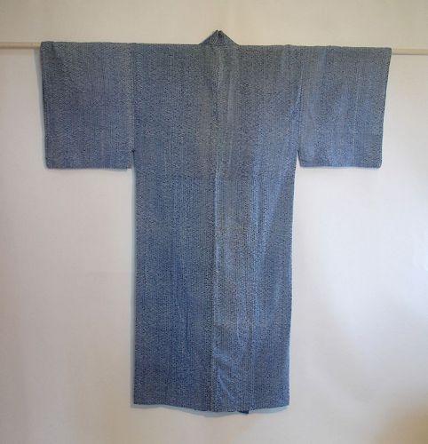 Japanese Vintage Textile Cotton Taiten Shibori Man's Kimono