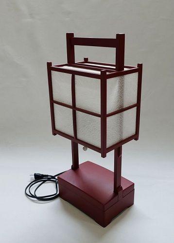 Japanese Vintage Urushi Andon Lantern Made of Wood