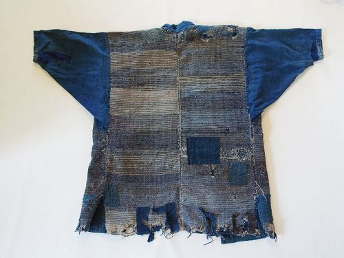 Japanese Vintage Textile Boro Sakiori Hanten