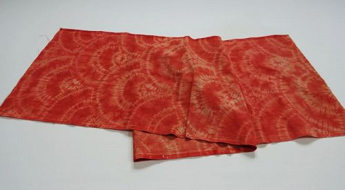 Japanese Vintage Textile Shibori Cloth Dyed with Akane Madder