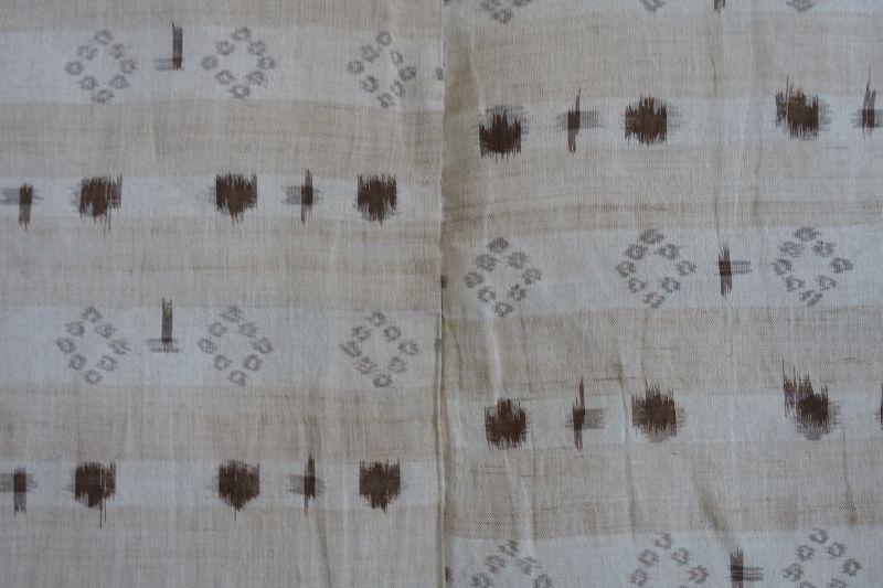 Japanese Antique Textile Asa Akaso Kasuri Kimono Made in Omi