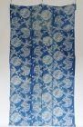 Japanese Antique Textile Cotton Futonji with Rare Katazome Pattern