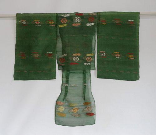 Japanese Antique Textile Silk Child's Yusoku Costume