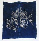 Japanese Vintage Textile Tsutsugaki Furoshiki Remade