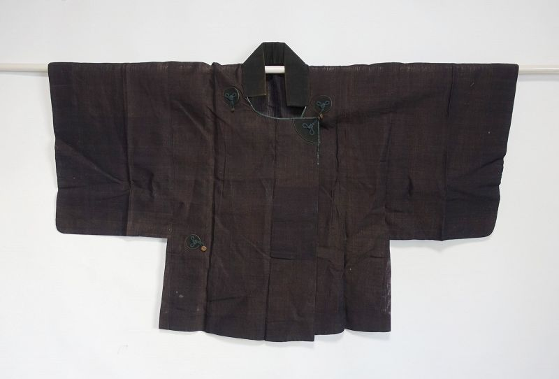 Japanese Antique Textile Han-gappa made of Kuzu Fiber