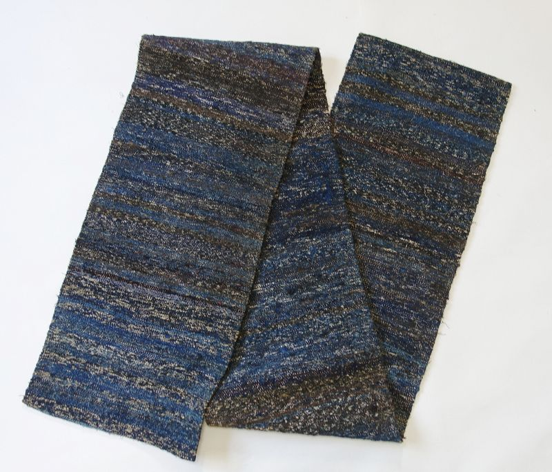 Japanese Vintage Textile Sakiori Cloth Indigo