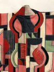 Japanese Vintage Textile Meisen Haori  1950s