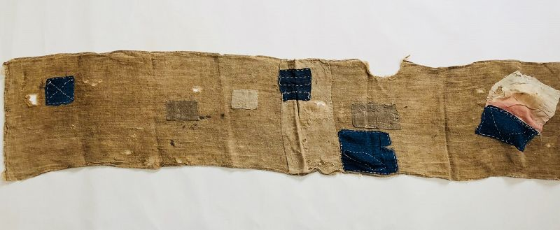 Japanese Antique Textile Panel of Boro Asa Kaya
