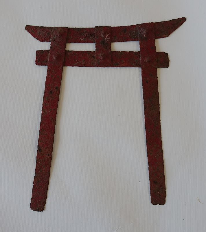 Japanese Antique Folk Craft Iron Torii Shrine Gate
