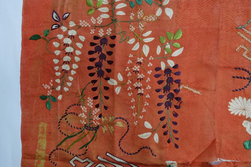 Japanese Antique Textile Fragment of Edo Kosode Kimono