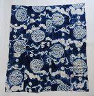 Japanese Vintage Textile Furoshiki Recycled from Shibori Kimono