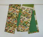 Japanese Vintage Textile Silk Kara-ori Obi Sash with Kasuri