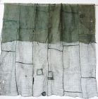 Japanese Antique Textile Asa Kaya Mosquito Net Green
