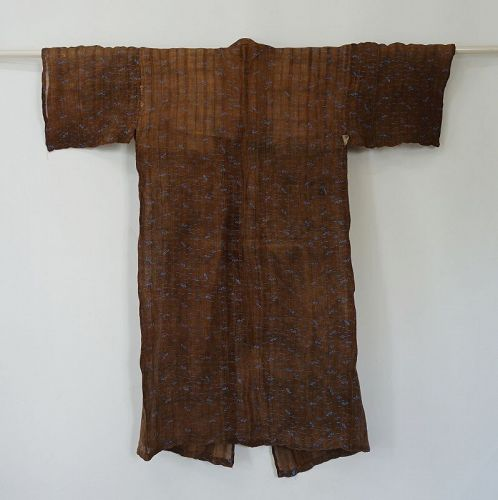 Japanese Antique Textile Okinawan Bashofu with Katazome