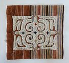 Japanese Vintage Textile Folk Craft Mingei Ainu Embroidery Cloth