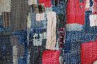 Japanese Vintage Textie Boro Rug or Futonji with Sashiko